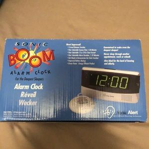 Other - Sonic boom alarm clock for the deepest sleepers.